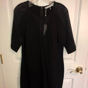 Trina Turk Black Dress with Mesh inset